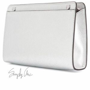 8b28cfb7ffabf9 ... where can i buy michael kors bags last 1 mk jet set silver clutch  crossbody combo